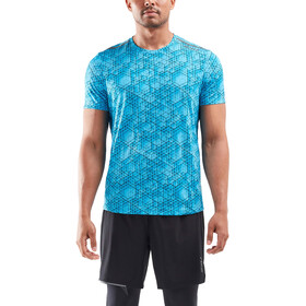 2XU GHST SS Shirt Men, matrix aqua/black reflective